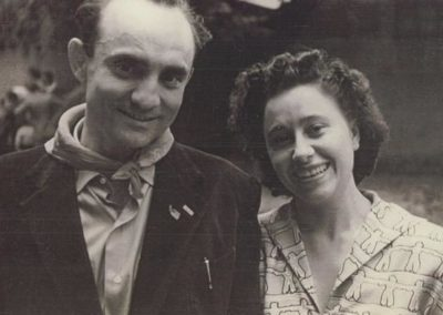 Giovanni Pesce e Nori Brambilla nel primo dopo guerra