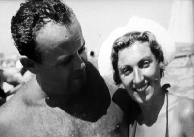Sauro Rottenstreich in una foto degli anni '50 con la moglie Dea Rossi