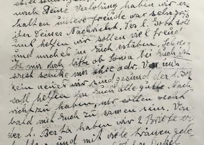 Lettera di Hana Tempel alla figlia Rosa del 28 maggio 1943, archivio Istoreco Reggio Emilia, fondo Hirschhorn