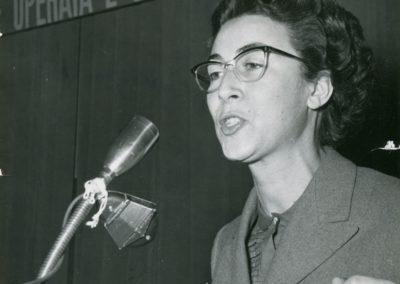 Stellina Vecchio al Congresso della Camera del Lavoro di Milano 1951
