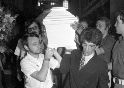 Il funerale di Alfredo Rampi
