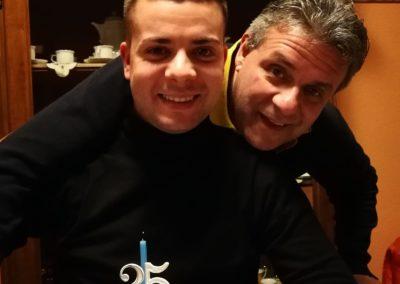 Gabriele con il papà
